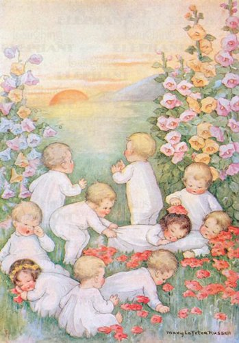 Babies Playing in Field - New Child: Mary LaFetra Russell