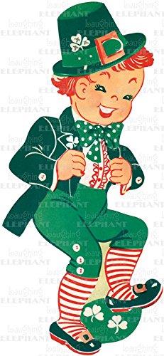 9781595835796: Dancing Leprechaun - Greeting Card (6 Cards individually bagged w/ Envelopes & Header) (St. Patrick's Day)