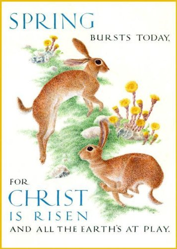 Marie Angel Rabbits Inspirational Greeting Card (9781595837073) by Christina Rossetti