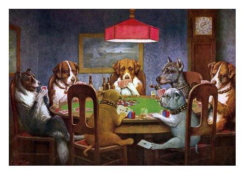 9781595838285: Dogs Playing Poker Friendship Card [With 6 Envelopes]