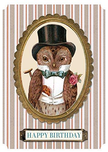 9781595839022: Elegant Owl Birthday Card