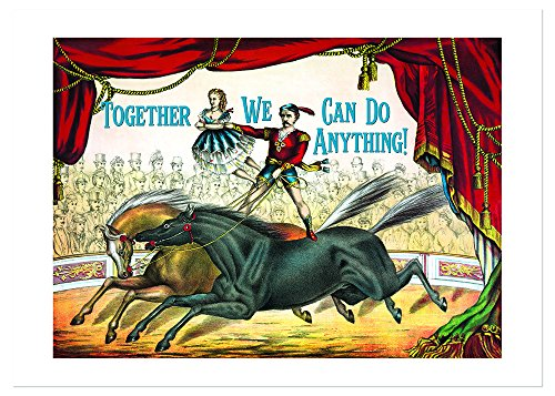 Circus Performers Anniversary Card