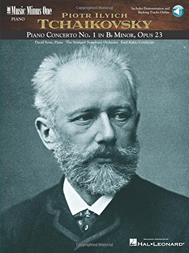 Music Minus One Piano: Tchaikovsky Concerto No. 1 in B-flat minor, op. 23 (Book & 2 CD Set)