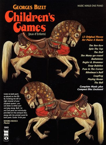 9781596150393: Georges Bizet - Children's Games (Jeux d'Enfants): 12 Original Pieces for Piano 4 Hands (Music Minus One (Numbered))