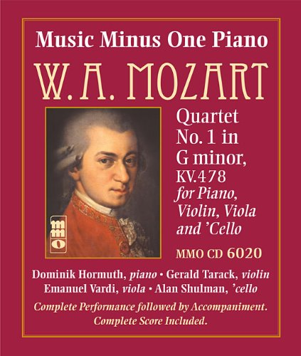 Mozart - Quartet No. 1 in G Minor, KV478: Music Minus One Piano (Music Minus One (Numbered))