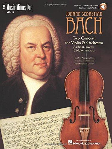 9781596151338: J.S. Bach - Violin Concerto No. 1 in A Minor, BWV1041; Violin Concerto No. 2 in E Major, BWV1042
