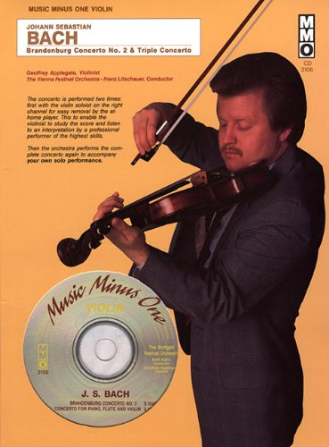 9781596151352: J.S. Bach - Brandenburg Concerto No. 2 & Triple Concerto in A Minor: Music Minus One Violin