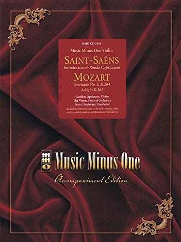 9781596151451: Saint-Saens - Introduction & Rondo Capriccioso & Mozart - Serenade No. 5, K204 & Adagio K261: Music Minus One Violin (Music Minus One (Numbered))