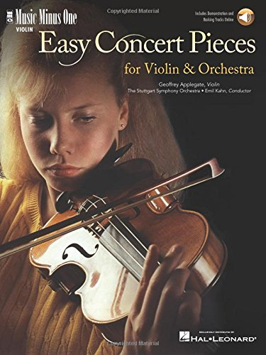 Easy Concert Pieces for Violin & Orchestra: Music Minus One Violin [With CD (Audio)] (Loose ...