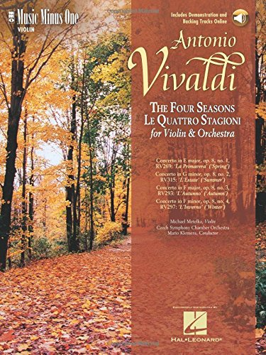 Music Minus One Violin: VIVALDI 'Le Quattre Stagioni' ('The Four Seasons') for ...