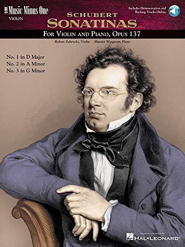 9781596151598: Schubert - Sonatinas: Violin Play-Along Pack (Music Minus One (Numbered))