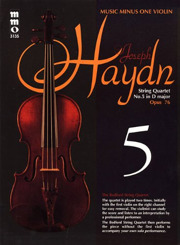 9781596151642: Haydn - String Quartet No. 5 in D Major, Op. 76: Violin Play-Along Pack (Music Minus One (Numbered))