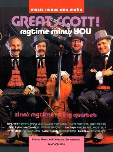 9781596151802: Great Scott Ragtime Minus Youzins Ragtime String Quartet Book/CD Violin (Music Minus One (Numbered))