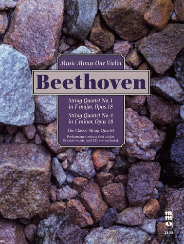 9781596151871: Beethoven - String Quartets, Op. 18: No. 1 in F Major & No. 4 in C Minor: Music Minus One Violin (Music Minus One (Numbered))