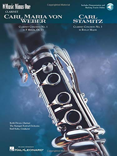 9781596152298: Weber: Concerto No. 1 in F Minor Op. 73 & Stamitz: Concerto No. 3 in B Flat for Clarinet (Music Minus)