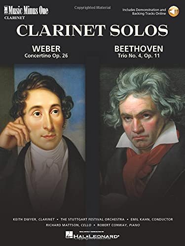 9781596152311: Weber - Concertino Op. 26 & Beethoven - Trio for Piano, Cello & Clarinet, Op. 11: Music Minus One Clarinet