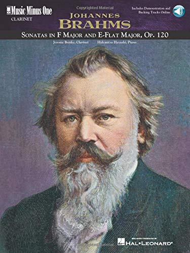 Music Minus One Clarinet: Brahms Sonatas in F minor and E-flat, op. 120 (Book & CD)