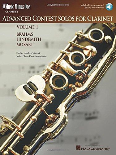 9781596152526: Music Minus One Clarinet: Advanced Contest Solos, Vol. I (Book & CD)