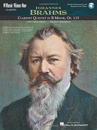 9781596152571: Brahms - Clarinet Quintet in B minor, Op. 115: Music Minus One Clarinet (Music Minus One (Numbered))