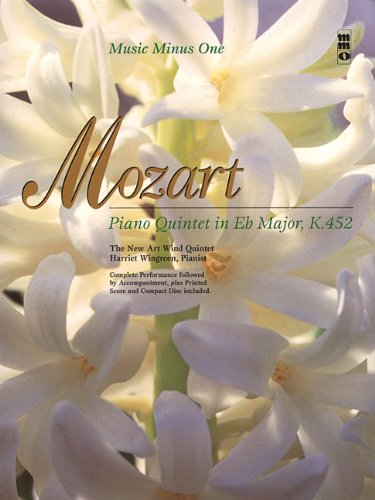 9781596152632: Mozart - Piano Quintet in Eb Major, K.452: Clarinet Play-Along Pack (Music Minus One (Unnumbered))