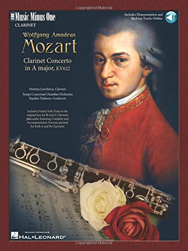 9781596152656: Mozart - Clarinet Concerto in A Major, K. 622: Music Minus One Clarinet