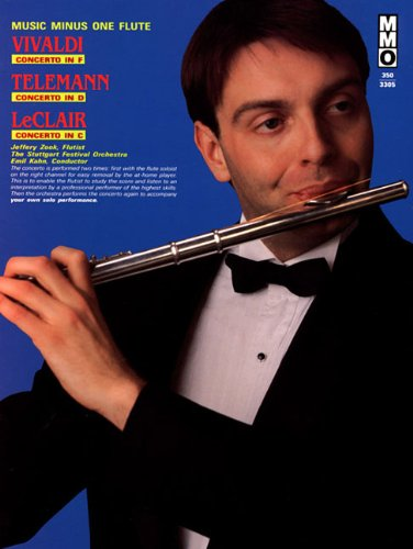 9781596152816: Vivaldi - Concerto in F, Telemann - Concerto in D, and LeClair - Concerto in C: Music Minus One Flute (Music Minus One (Numbered))