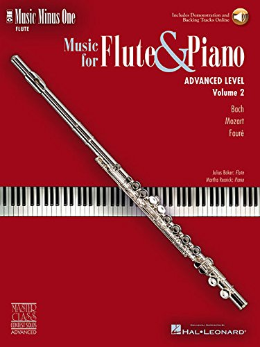 9781596153028: Music Minus One Flute: Advanced Contest Solos (Book & CD)