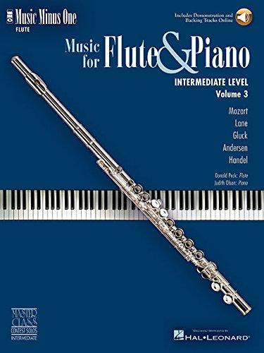9781596153035: Music Minus One Flute: Intermediate Flute Solos (Book & CD)