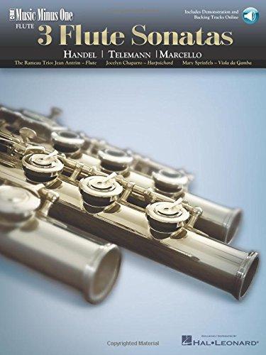 Music Minus One Flute or Alto Recorder: Handel; Marcello; Telemann Three Sonatas in F Major for ...