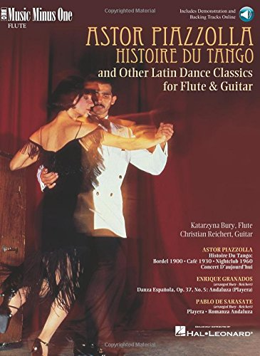 9781596153400: Piazzolla: Histoire Du Tango and Other Latin Classics for Flute & Guitar Duet: Music Minus One FLUTE Edition