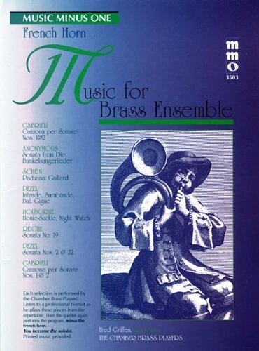 Music Minus One French Horn: Music for Brass Ensemble (Sheet Music & CD)