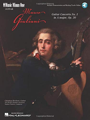 9781596153820: Mauro Giuliani: Guitar Concerto No. 1 in A Major, Op. 30 (Music Minus One (Numbered))