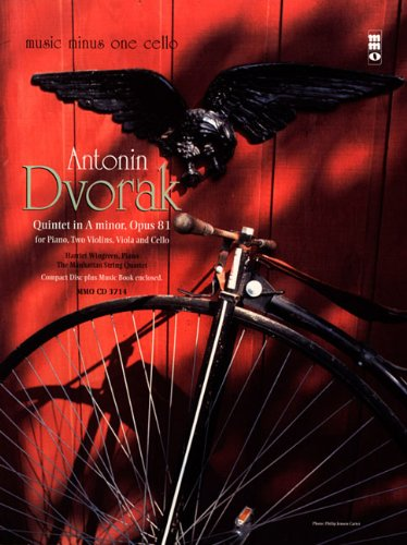 9781596154056: Dvorak - Quintet in A minor, Op. 81: Music Minus One Cello