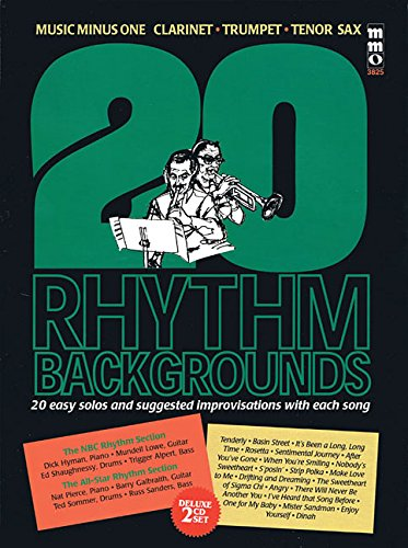 9781596154407: 20 Rhythm Backgrounds to Standards: Music Minus One Clarinet, Trumpet, Tenor Sax Deluxe 2-CD Set