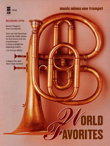 9781596154513: World Favorites - Beginning Level: Music Minus One Trumpet