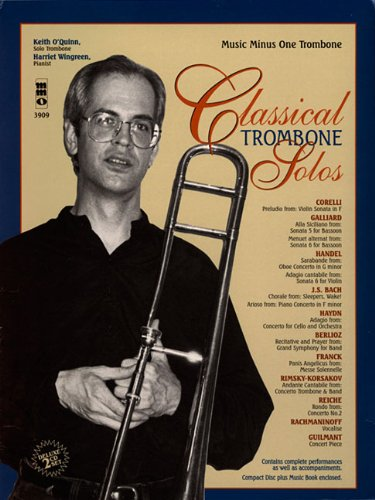 9781596154674: Classical Trombone Solos Book/2 CD Set (Music Minus One (Numbered))