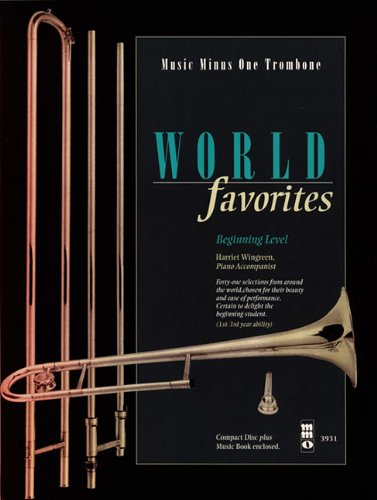 9781596154872: World Favorites - Beginning Level: Music Minus One Trombone