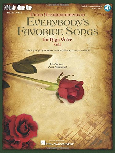 9781596154971: Everybody's Favorite Songs - High Voice, Vol. I: Music Minus One High Voice