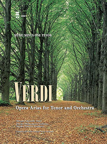 Music Minus One Tenor: Verdi Opera Arias for Tenor and Orchestra (Book & CD)
