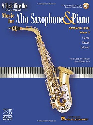9781596155947: Advanced Alto Sax Solos - Volume 2: Music Minus One Alto Saxophone