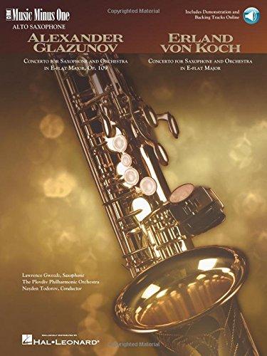 9781596156050: Glazunov - Concerto in E-flat Major, Op. 109; Von Koch - Concerto in E-flat Major: Music Minus One Alto Saxophone