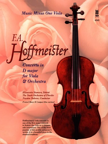 9781596156449: Hoffmeister - Concerto in D Major for Viola and Orchestra (Music Minus One (Numbered))