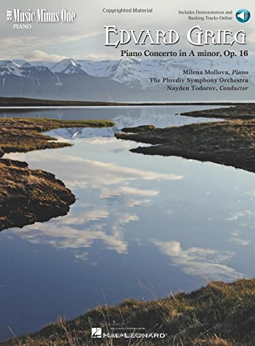 9781596157286: Edvard Grieg Piano Concerto In A Minor Op16 Book/Online Audio (Music Minus One) (Music Minus One (Numbered))