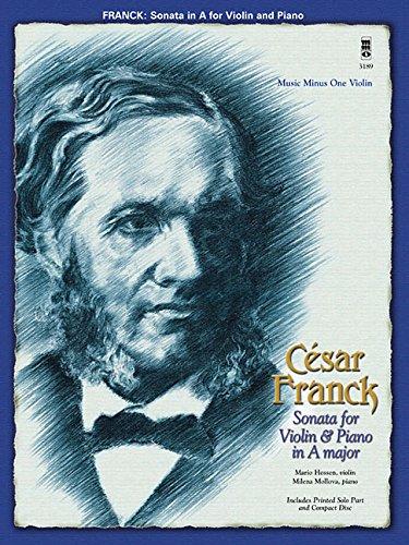 9781596157576: Franck - Sonata for Violin & Piano in a Major: Music Minus One Violin