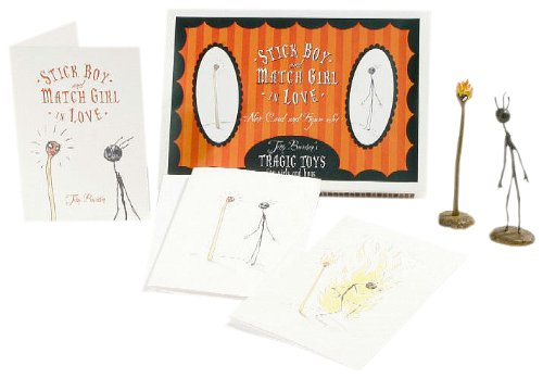 9781596170261: Tim Burtons Stick Boy & Match Girl Note Cards and Figures Boxed Set