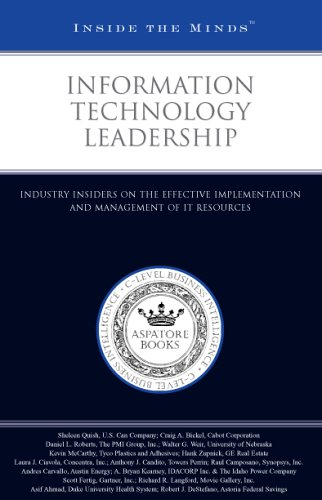 Information Technology Leadership: Industry Insiders on the Effective Implementation and Management...