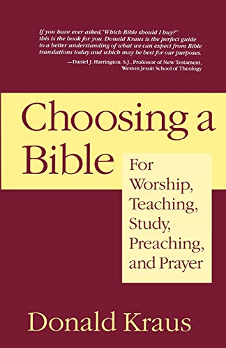 9781596270435: Choosing a Bible: For Worship, Teaching, Study, Preaching, and Prayer