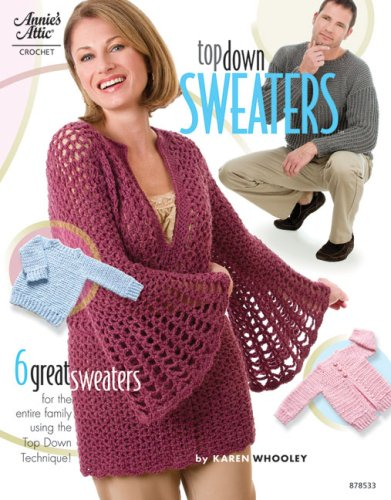 9781596352179: Top Down Sweaters (Annie's Attic: Crochet)