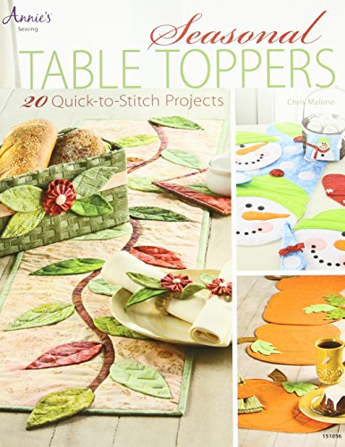 9781596358027: Seasonal Table Toppers: 20 Quick-to-Stitch Projects (Annie's Sewing)
