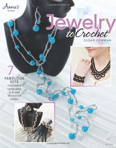 Jewelry to Crochet 9781596358645 Impressive jewelry designs sure to show off crocheters' skills accompany beautiful photographs and easy-to-follow instructions in this guide. The book contains patterns and instructions to make seven sets of unique crocheted jewelry to wear or give as gifts, each including a necklace and either a bracelet, a pair of earrings, or both—18 designs altogether, with styles ranging from flower accents to braids and geometric shapes. All of the designs use size-3, -5, and -10 threads, with some pieces also using Kreinik metallic thread, and require purchased necklace barrel clasps, bracelet clasps, earring wires, snaps, and beads. Crocheters of any skill level will enjoy creating these easy-to-intermediate projects.